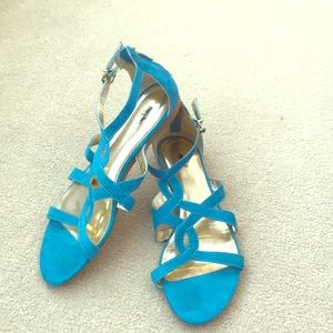 Teal strappy sandals